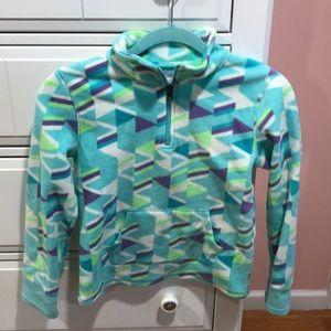 Girls fleece multicolored pullover -